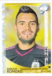 2016 Panini Copa America Centenario Stickers Sergio Romero