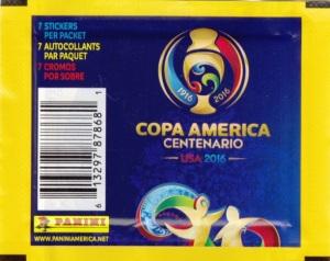 2016 Panini Copa America Centenario Stickers wrapper