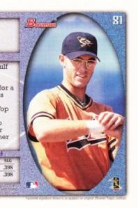 1998 Bowman Jayson Werth back detail