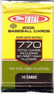 2005 Topps Total Hobby pack