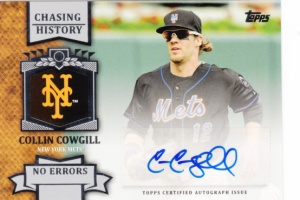 2013 Topps Chasing History Autographs Collin Cowgill