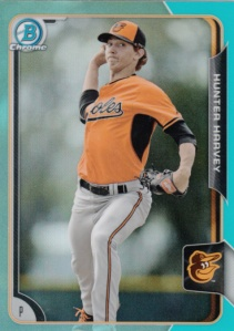 2015 Bowman Chrome Sky Blue Hunter Harvey