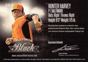 2015 Onyx Platinum Black Super Break Hunter Harvey back