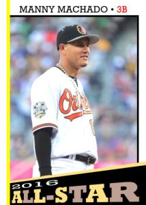 2016 TSR #354 - Manny Machado All-Star