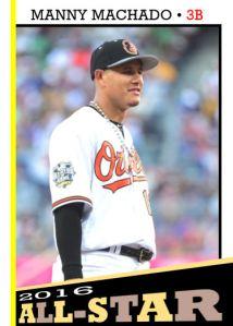 2016 TSR #354 - Manny Machado All-Star