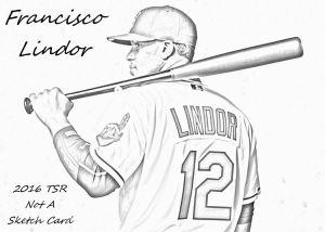 2016 TSR Not A Sketch Card #1 Francisco Lindor