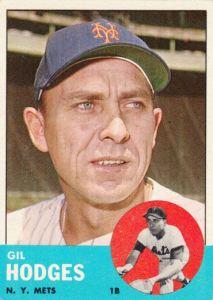 1963 Topps Gil Hodges