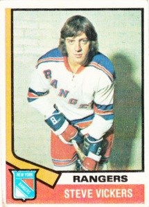 1974-75 Topps Hockey Steve Vickers