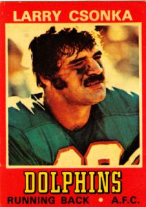 1974 Wonder Bread All-Stars Larry Csonka