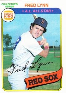 1980 Burger King Pitch Hit & Run Fred Lynn