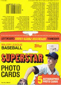1980 Topps 5x7 header card with 1981 copyright