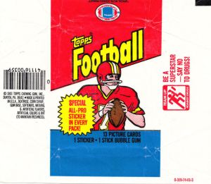 1983 Topps Football Wrapper
