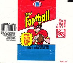 1983 Topps Football Wrapper