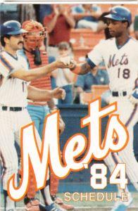1984 Mets schedule
