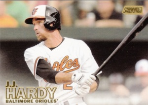 2015 Stadium Club Gold JJ Hardy