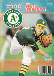 2016 Topps Bunt Program Sonny Gray