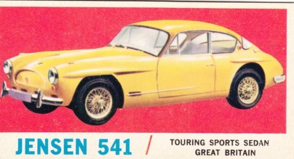 1961 Topps Sports Cars Jensen 541