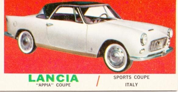 1961 Topps Sports Cars Lancia Appia
