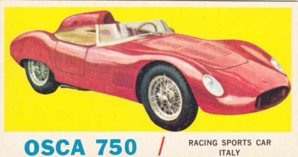 1961 Topps Sports Cars Osca 750